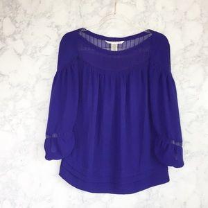 Diane von Furstenberg silk purple blouse